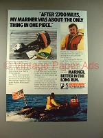 1981 Mariner Outboard Motor Ad - After 2700 Miles!