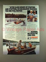 1982 Mariner Outboard Motor Ad - Starting & Stopping