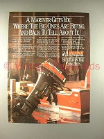 1984 Mariner Outboard Motor Ad - Big Ones are Biting