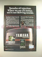 1984 Yamaha Outboard Motor Ad - Not Blowing Smoke