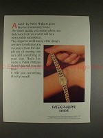 1987 Patek Philippe Watch Ad - Goes Beyond Hours!!