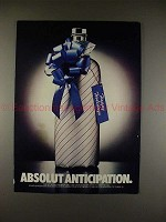 1986 Absolut Vodka Ad - Absolut Anticipation!!
