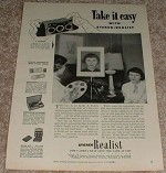 1953 Vintage Stereo Realist Camera Ad - 3 of a Kind!!
