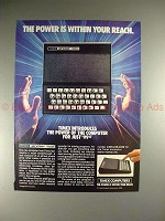 1983 Timex Sinclair 1000 Computer Ad - Power Within!!
