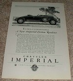 1929 Chrysler Imperial Roadster Car Ad, NICE!