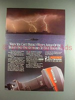1985 Mariner Outboard Motor Ad - When you Can't Predict