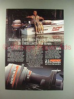 1986 Mariner Outboard Motor Ad - Pushing to Limits