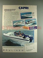 1987 Bayliner 1700 Capri Cuddy Boat Ad - Affordable