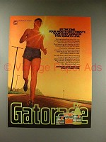 1980 Gatorade Drink Ad - Body Two Quarts Low