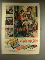 1938 Beech-Nut Gum Ad - Opening Day