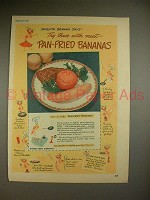 1948 Chiquita Banana Ad - Pan-Fried Bananas