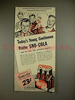 1941 Sno-Cola Soda Ad - Today's Young Gentlemen Prefer