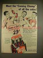 1941 Sno-Cola Soda Ad - Coming Champ of All Colas