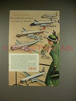 1954 Convair Airplane Ad, Convair-Liner, Douglas DC-7 +
