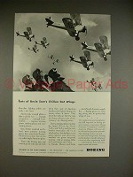 1943 WWII Boeing PT-17 Army Plane Ad - Got Wings