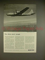 1944 WWII Boeing B-29 Superfortress Plane Ad