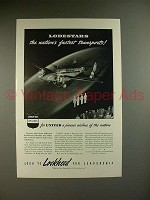 1940 Lockheed Lodestar Airplane - United Air Lines