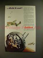 1942 WWII Lockheed Hudson Bomber Ad - Dish it Out