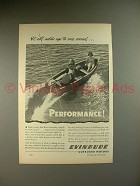 1946 Evinrude Outboard Motor Ad - Performance