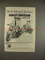 1950 Harley Davidson Hydra-Glide Motorcycle Ad, Thrill!