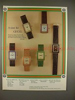1979 Gucci Watch Ad - Assorted Pastel Enamels - A Time!