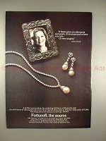 1981 Fortunoff Jewelry Ad w/ Lauren Bacall - Naughty!!