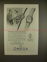 1955 Omega Seamaster Watch Ad - Christmas Dream True!!
