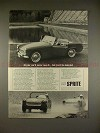 1965 Austin Healey Sprite Car Ad - You'll be Tempted!!