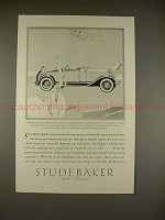 1929 Studebaker President Eight Roadster Car Ad!!