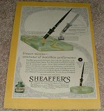 1929 Sheaffer's Desk Fountain Pen Set Ad!!!