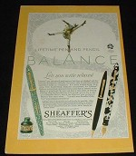 1929 Sheaffer's Lifetime Pen & Pencil Ad!!!