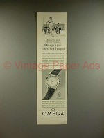 1956 Omega Seamaster Watch Ad - Times the Olympics