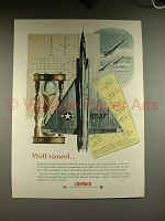 1956 Convair F-102A Intercepter Plane Ad - Well Timed