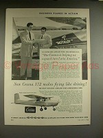1956 Cessna 172 Airplane Ad - Makes Flying like Driving