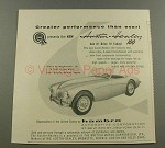 1956 Austin-Healey 100 Car Ad - Greater Performance