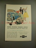 1956 Chevrolet Car Ad - More People Named Jones