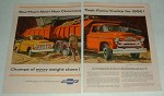 1956 Chevrolet 10500 & 3100 Pickup Truck Ad!