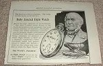 1898 Elgin Watch Ad, The Truthful Time!!!