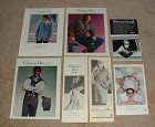 Large Lot of 7 Christian Dior Fashion Ads, 1976-1982!!