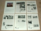 Large Lot of 10 Colorado Tourism Ads - 1930 - 2001