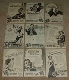 HUGE Lot of 49 Edwards Coffee Ads, 1938-1941 - NICE!!