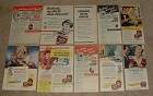 HUGE Lot of 28 Edwards Coffee Ads, 1946-1953 - NICE!!