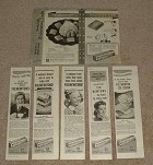Large Lot of 6 Nabisco Fig Newtons Cookie Ads - 1940