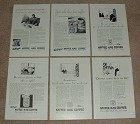 Large Lot of 11 Kaffee Hag Coffee Ads, 1928-1930 - NICE