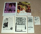LARGE Lot of 6 Louisiana Tourism Ads - 1930 - 1992