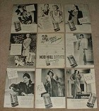 HUGE Lot of 47 Nob Hill Coffee Ads, 1941-1946 Some WWII