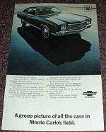 1969 Chevrolet Monte Carlo Ad, Group Picture!