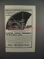 1898 Chicago & North-Western Railway Ad - Lighted