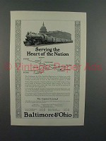 1923 Baltimore & Ohio RR Ad - Capitol Limited