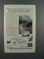 1923 Burlington Route Railroad Ad - Vacation Thrill